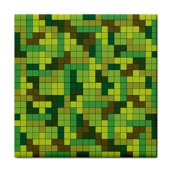 Tetris Camouflage Forest Face Towel by jumpercat