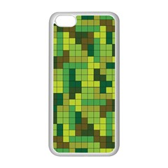 Tetris Camouflage Forest Apple Iphone 5c Seamless Case (white) by jumpercat