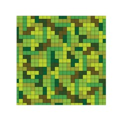 Tetris Camouflage Forest Small Satin Scarf (square) by jumpercat