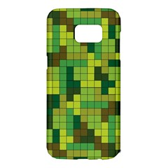 Tetris Camouflage Forest Samsung Galaxy S7 Edge Hardshell Case by jumpercat