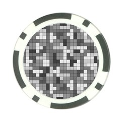 Tetris Camouflage Urban Poker Chip Card Guard by jumpercat