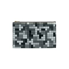 Tetris Camouflage Urban Cosmetic Bag (small)  by jumpercat