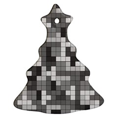 Tetris Camouflage Urban Christmas Tree Ornament (two Sides) by jumpercat