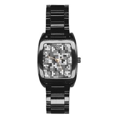 Tetris Camouflage Urban Stainless Steel Barrel Watch by jumpercat