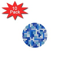 Tetris Camouflage Marine 1  Mini Buttons (10 Pack)  by jumpercat