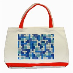 Tetris Camouflage Marine Classic Tote Bag (red) by jumpercat