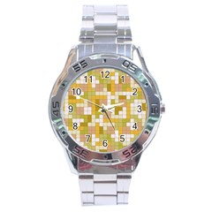 Tetris Camouflage Desert Stainless Steel Analogue Watch by jumpercat