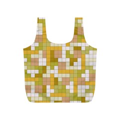Tetris Camouflage Desert Full Print Recycle Bags (s)  by jumpercat