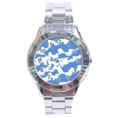 Cloud Lines Stainless Steel Analogue Watch by jumpercat