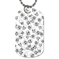 A Lot Of Skulls White Dog Tag (two Sides) by jumpercat