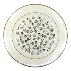 A Lot Of Skulls White Porcelain Plates by jumpercat