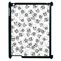 A Lot Of Skulls White Apple Ipad 2 Case (black) by jumpercat