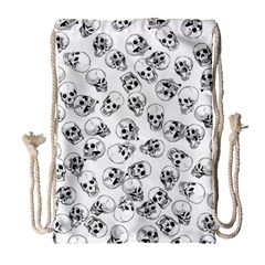 A Lot Of Skulls White Drawstring Bag (large) by jumpercat