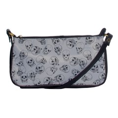 A Lot Of Skulls Grey Shoulder Clutch Bags by jumpercat