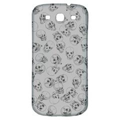 A Lot Of Skulls Grey Samsung Galaxy S3 S Iii Classic Hardshell Back Case by jumpercat