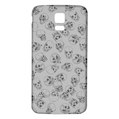 A Lot Of Skulls Grey Samsung Galaxy S5 Back Case (white) by jumpercat