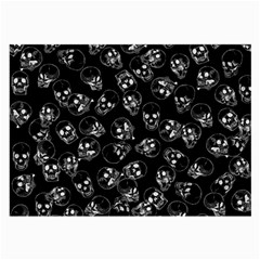 A Lot Of Skulls Black Large Glasses Cloth (2 Side) by jumpercat