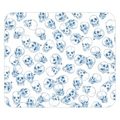 A Lot Of Skulls Blue Double Sided Flano Blanket (small)  by jumpercat