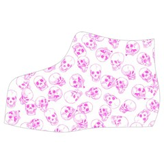 A Lot Of Skulls Pink Women s Mid Top Canvas Sneakers