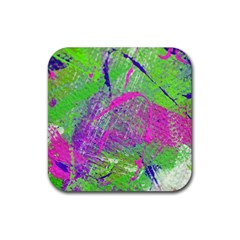 Ink Splash 03 Rubber Square Coaster (4 Pack)  by jumpercat
