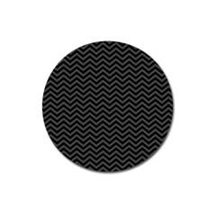Dark Chevron Magnet 3  (round) by jumpercat