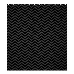 Dark Chevron Shower Curtain 66  X 72  (large)  by jumpercat