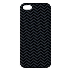 Dark Chevron Apple Iphone 5 Premium Hardshell Case by jumpercat