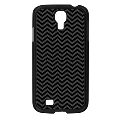 Dark Chevron Samsung Galaxy S4 I9500/ I9505 Case (black) by jumpercat