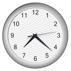 Light Chevron Wall Clocks (silver)  by jumpercat