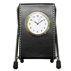 Light Chevron Pen Holder Desk Clocks by jumpercat