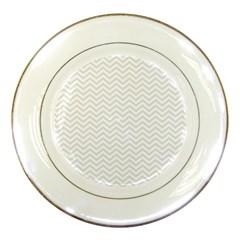 Light Chevron Porcelain Plates by jumpercat