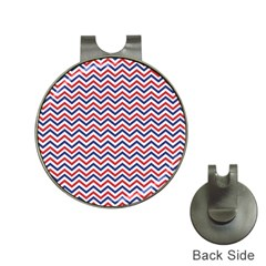 Navy Chevron Hat Clips With Golf Markers by jumpercat