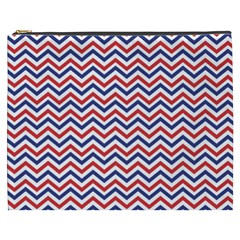 Navy Chevron Cosmetic Bag (xxxl)  by jumpercat