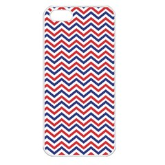 Navy Chevron Apple Iphone 5 Seamless Case (white) by jumpercat