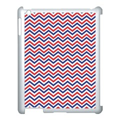 Navy Chevron Apple Ipad 3/4 Case (white) by jumpercat