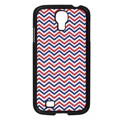 Navy Chevron Samsung Galaxy S4 I9500/ I9505 Case (black) by jumpercat