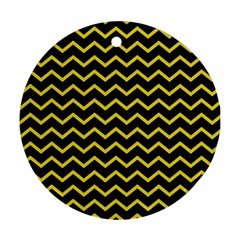 Yellow Chevron Ornament (round) by jumpercat