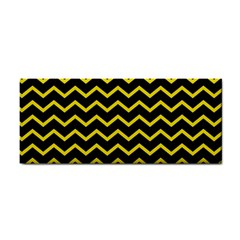 Yellow Chevron Cosmetic Storage Cases by jumpercat