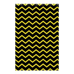 Yellow Chevron Shower Curtain 48  X 72  (small)  by jumpercat