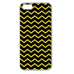 Yellow Chevron Apple Seamless Iphone 5 Case (clear) by jumpercat