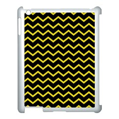 Yellow Chevron Apple Ipad 3/4 Case (white) by jumpercat