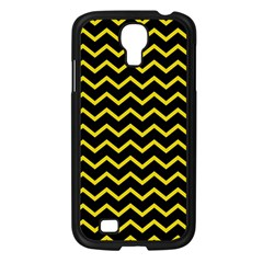 Yellow Chevron Samsung Galaxy S4 I9500/ I9505 Case (black) by jumpercat