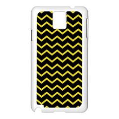 Yellow Chevron Samsung Galaxy Note 3 N9005 Case (white) by jumpercat