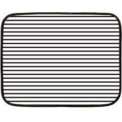 Basic Horizontal Stripes Double Sided Fleece Blanket (mini)  by jumpercat