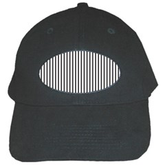 Basic Vertical Stripes Black Cap by jumpercat