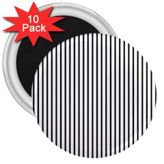 Basic Vertical Stripes 3  Magnets (10 Pack)  by jumpercat