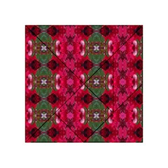 Christmas Colors Wrapping Paper Design Acrylic Tangram Puzzle (4  X 4 ) by Fractalsandkaleidoscopes