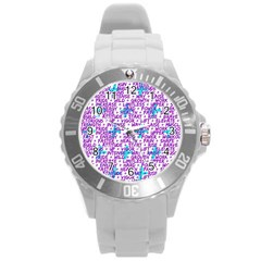Hard Workout Round Plastic Sport Watch (l) by jumpercat