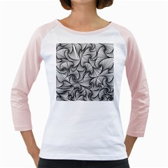Fractal Sketch Light Girly Raglans