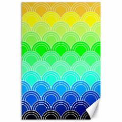Art Deco Rain Bow Canvas 24  X 36  by 8fugoso